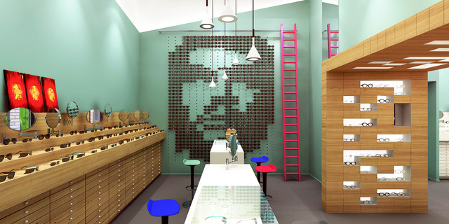 Oscar Opticiens shop design — Pinkeye #pinkeyedesign