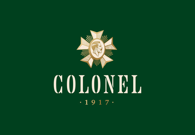 Story and bottle design for the one and only Colonel Gin — Pinkeye #pinkeyedesign